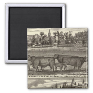 East Side, res & property and Davis' Mill 2 Inch Square Magnet