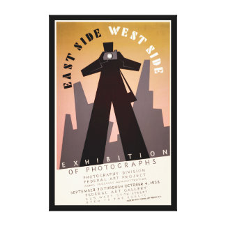 East Side West Side WPA Exhibition Canvas Print