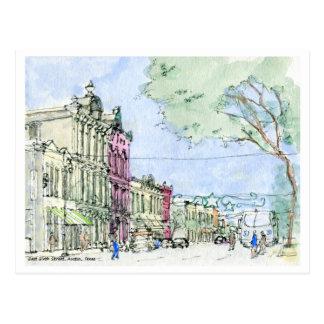 East Sixth Street, Austin, Texas Postcard
