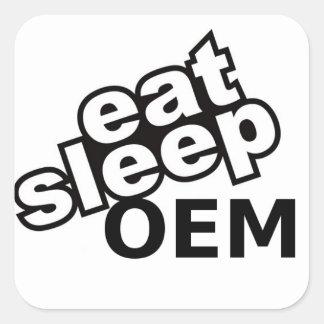 East Sleep OEM Square Sticker