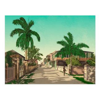East Street In Nassau Postcard