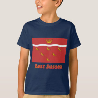 East Sussex Flag with Name T-Shirt