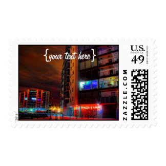 East Sutton Harbour by Night Postage