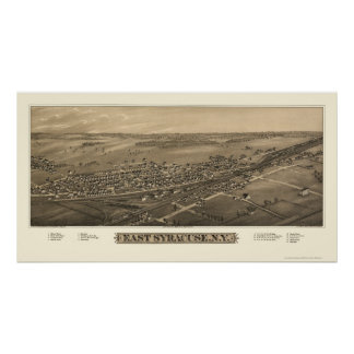 East Syracuse, NY Panoramic Map - 1885 Poster
