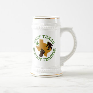 East Texas Bigfoot Tracker Beer Stein