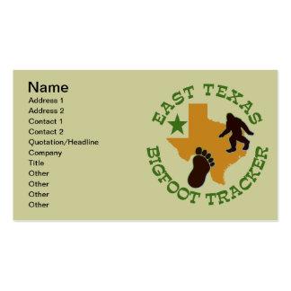 East Texas Bigfoot Tracker Business Card Templates