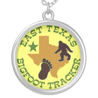 East Texas Bigfoot Tracker Silver Plated Necklace