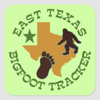 East Texas Bigfoot Tracker Square Sticker