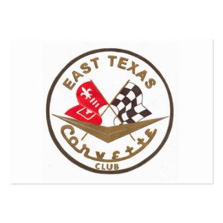 East Texas Corvette Club Large Business Card