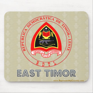 East Timor Coat of Arms Mousepad