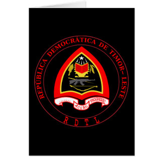 east timor emblem greeting card
