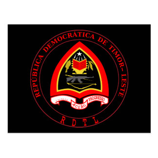 east timor emblem postcard