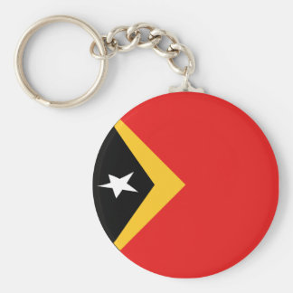 East Timor Fisheye Flag Keychain