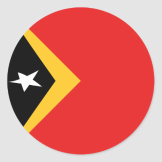 East Timor Fisheye Flag Sticker