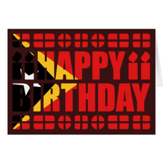 East Timor Flag Birthday Card