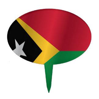 East Timor flag Cake Topper