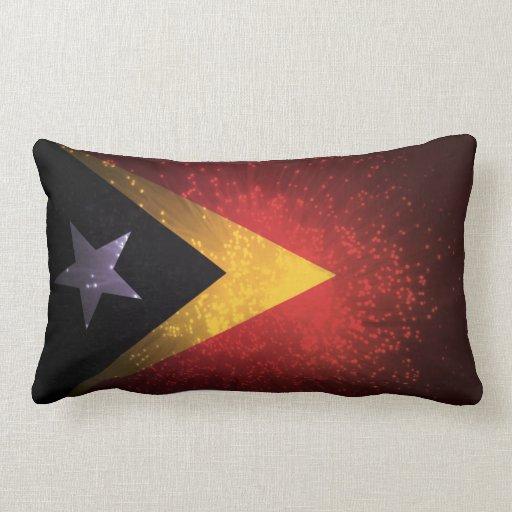 East Timor Flag Firework Pillow