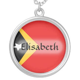 East Timor Flag + Name Necklace