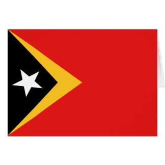 East Timor Flag Notecard Stationery Note Card