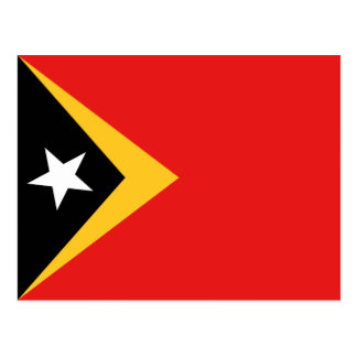 East Timor Flag Postcard