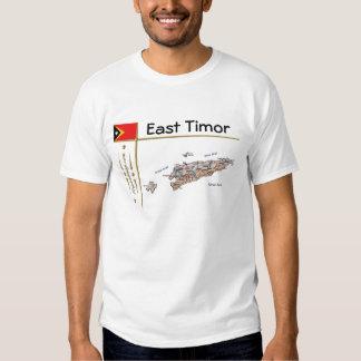 East Timor Map + Flag + Title T-Shirt