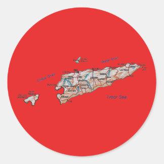 East Timor Map Sticker