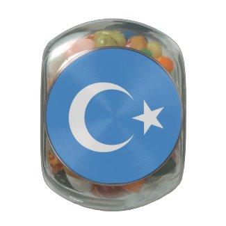 East Turkestan Glass Candy Jar