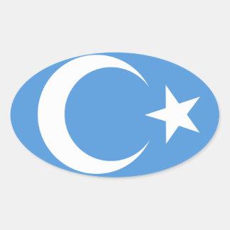 East Turkestan Oval Sticker
