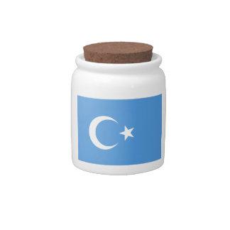 East Turkestan Uyghur Flag Candy Dish