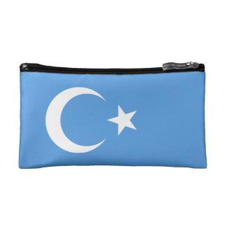 East Turkestan Uyghur Flag Double-Sided Cosmetic Bag