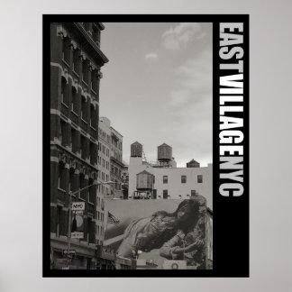 East Village New York City Poster