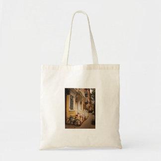 East Village Sidewalk on an Autumn Day Canvas Bags