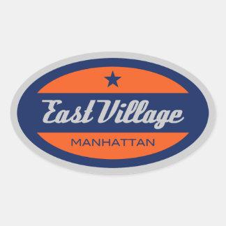 East Village Oval Sticker