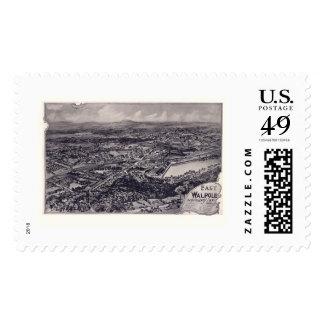 East Walpole, MA Panoramic Map - 1898 Postage Stamp