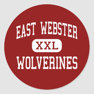 East Webster - Wolverines - High - Maben Classic Round Sticker