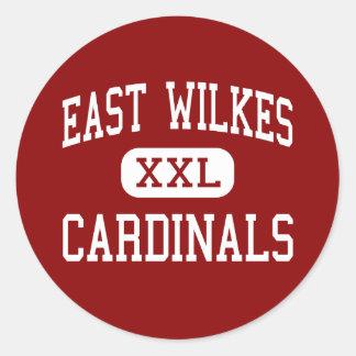 East Wilkes - Cardinals - High - Ronda Classic Round Sticker