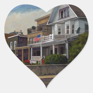 East Wind Over Weehawken 2013 by Stephen Gardner Heart Sticker