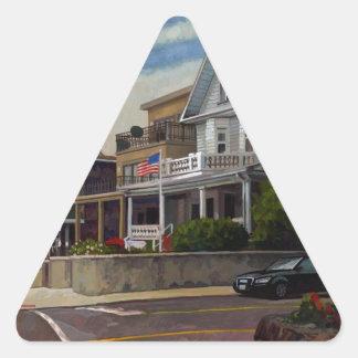 East Wind Over Weehawken 2013 by Stephen Gardner Triangle Sticker