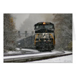 Eastbound in Snow at Ardara Greeting Card