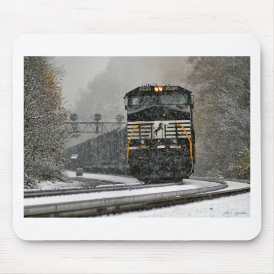 Eastbound in Snow at Ardara Mouse Pad