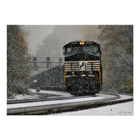 Eastbound in Snow at Ardara Poster