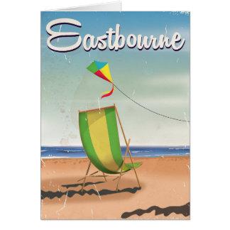 Eastbourne UK vintage travel poster Card