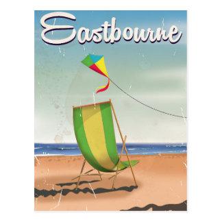 Eastbourne UK vintage travel poster Post Card