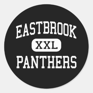 Eastbrook - panteras - alto - altiplanicie Indiana Pegatina Redonda