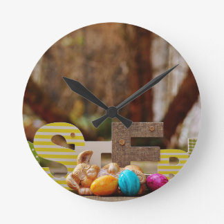 Easter- #4 round clock