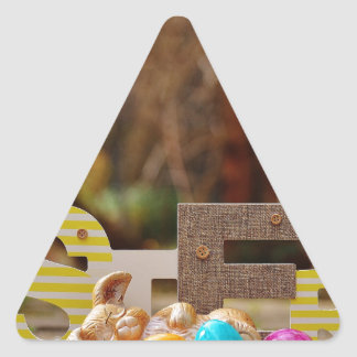 Easter- #4 triangle sticker