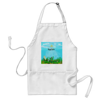 easter adult apron