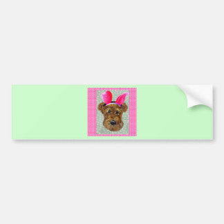 EASTER AIREDALE BUMPER STICKER