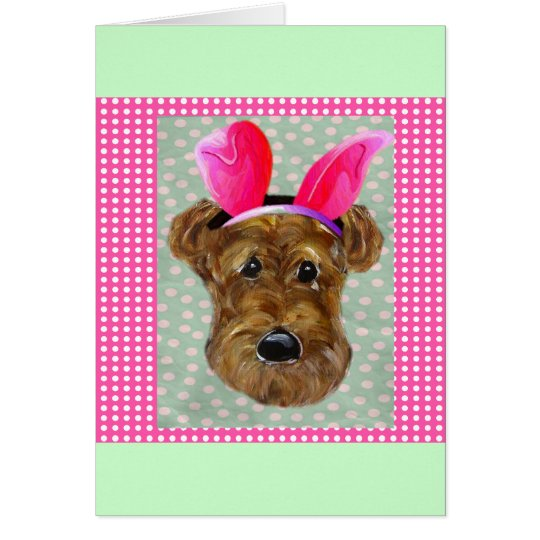 EASTER AIREDALE CARD