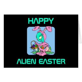 Easter Alien Greeting Card